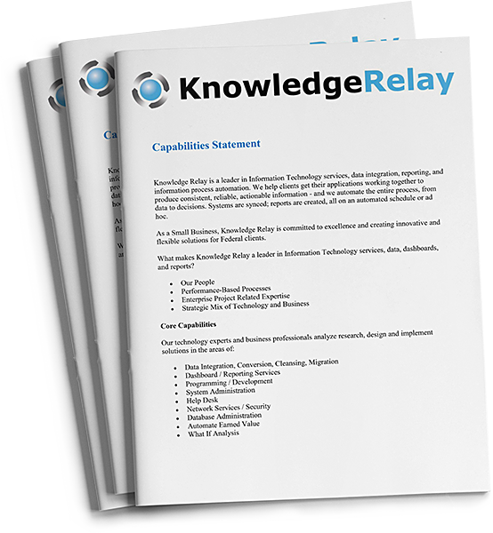 Knowledge Relay's Capabilities Sheet | Knowledge Relay