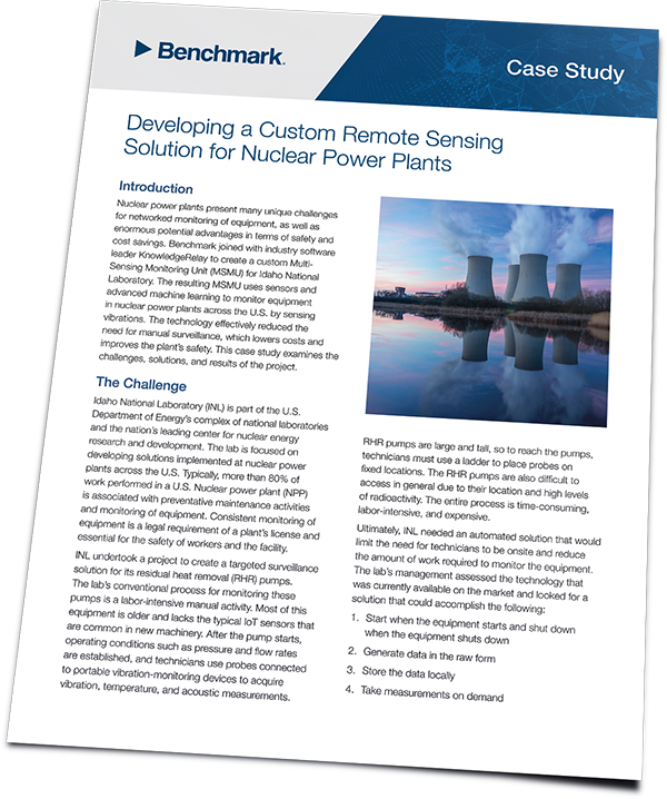 Benchmark Case Study - Developing a Custom Remote Sensing Solution for Nuclear Power Plants